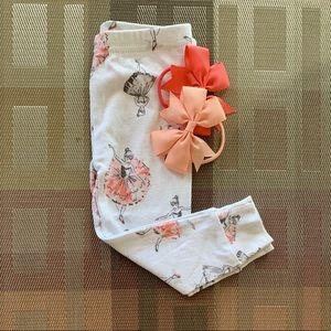 👶5/$25 Carter's Peach and White Baby Leggings